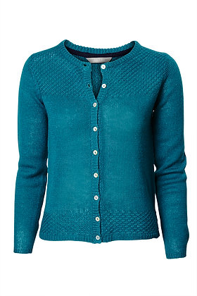 Vintage knit cardigan in emerald