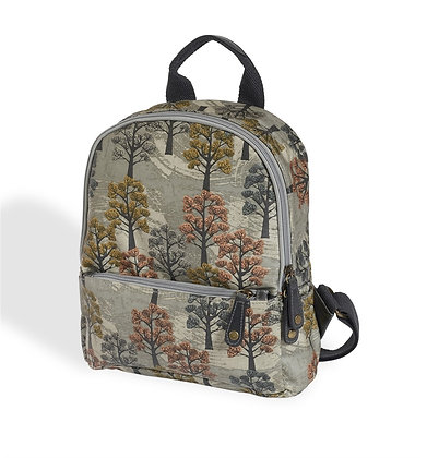 Willow tree oilcloth rucksack
