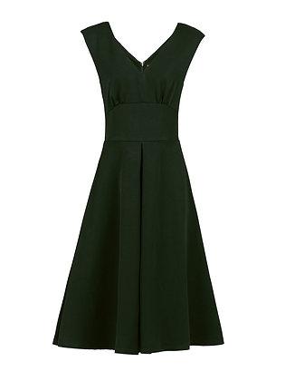 Swing dress in forest green