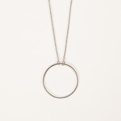 Skinny Circle Necklace in silver