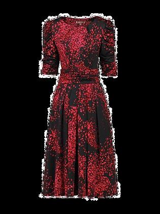 Rich red midi dress