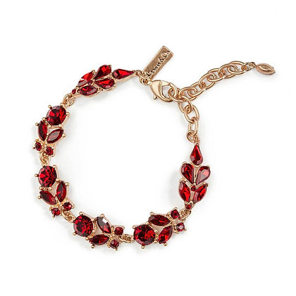 Ruby crystal bracelet