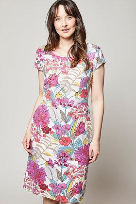 St Agnes botanical dress in pink