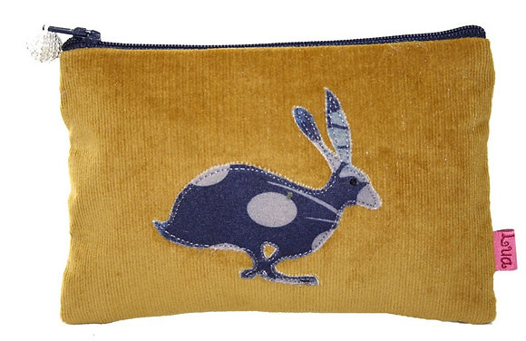 Hare coin purse in ochre