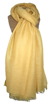 Plain scarf in yellow