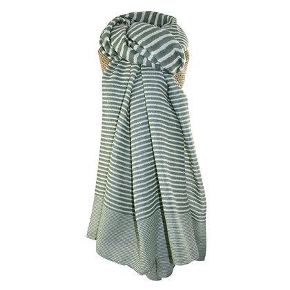 Stripe scarf in green