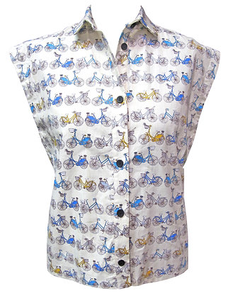 Cycle shirt in blue