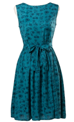 Bicycle dress in teal