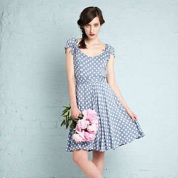 Aya dress in blue spot