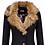 Thumbnail: Favourite fur collar coat in black