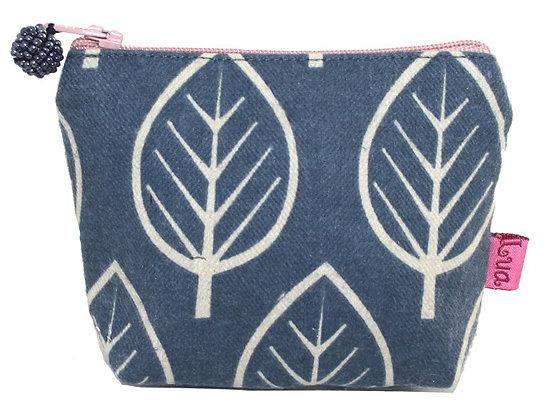 Leaf mini purse in blue