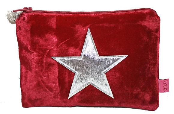Red velvet star purse
