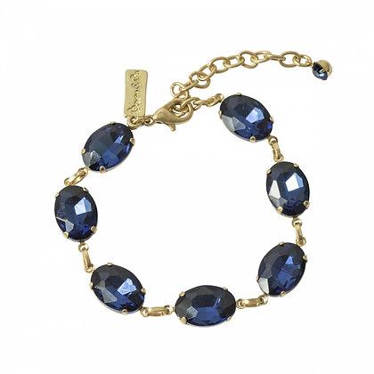 Sapphire blue oval stone bracelet