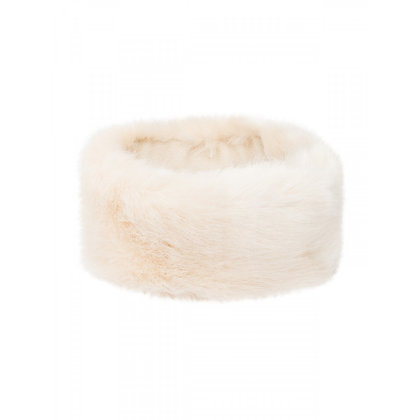 Faux fur headband ivory