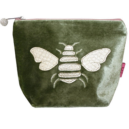 Velvet Bee Cosmetic Purse in olive