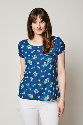 Victoria blue floral top