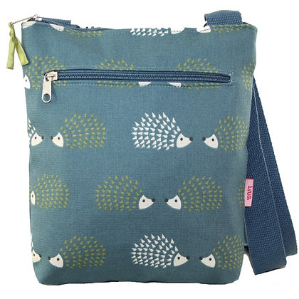 Hedgehog crossbody bag in teal