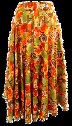 Vintage midi skirt in orange