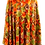 Thumbnail: Vintage midi skirt in orange