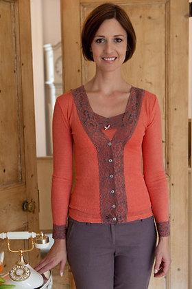Gabriella Knight lace cardigan orange
