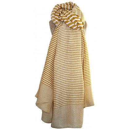 Stripe scarf in yellow