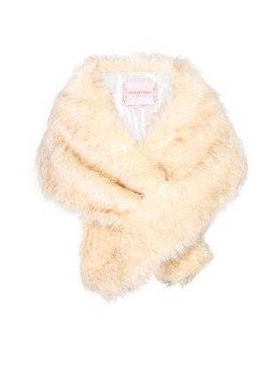 Faux fur stole in cream