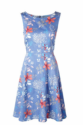 Turnout dress in delphinium blue