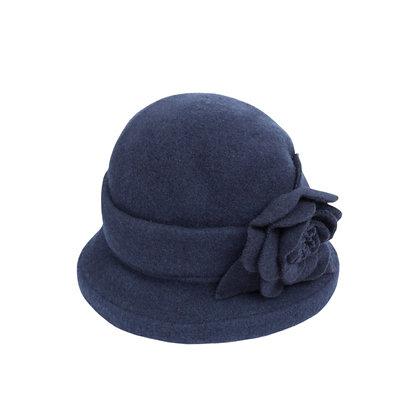 Faye cloche hat in navy