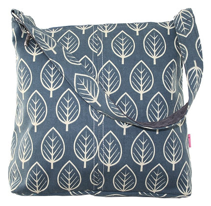 Blue leaf shoulder bag