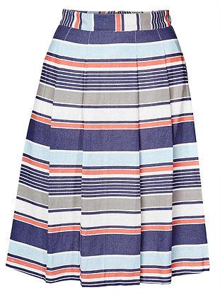St Agnes stripe skirt