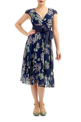 Rosa dress in navy floral