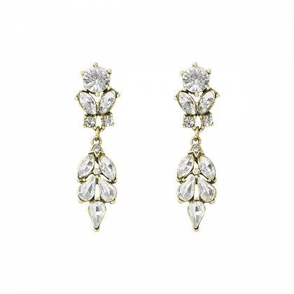 Antique crystal drop earrings