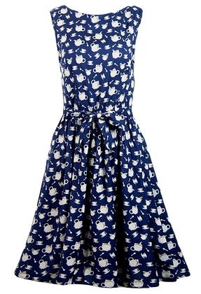 Teapot dress in navy