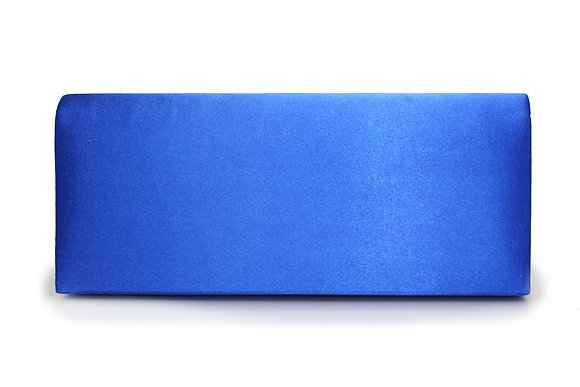 Satin clutch bag blue