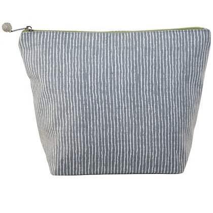 Stripes large cosmetic purse