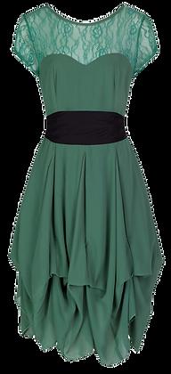 Darcie dress in moss green