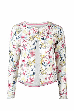 Alfresco cardigan bouquet print