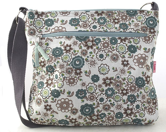 Floral messenger bag in mint