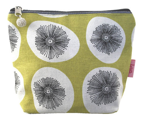 Dandelion cosmetic purse in citrus