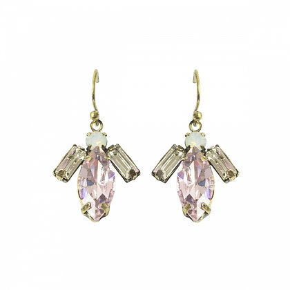 Angel earrings in pale pink