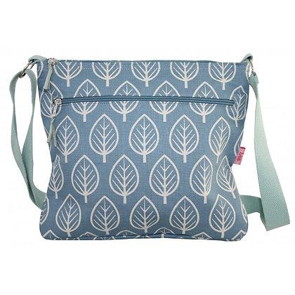 Leaf print messenger bag