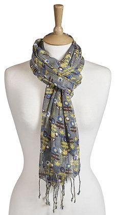 Scandi print scarf
