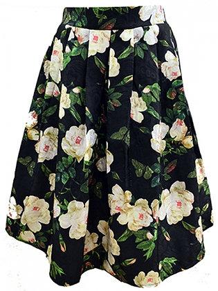 Vintage cream rose skirt
