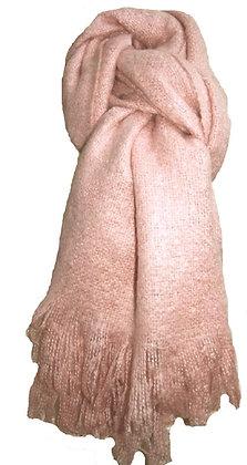 Winter woven scarf in dusty pink