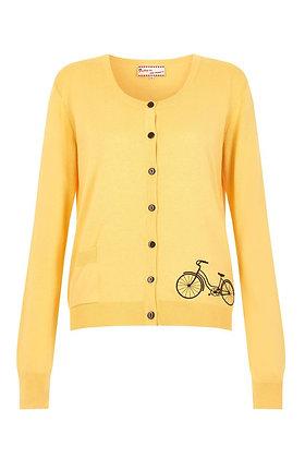Cycle cardigan in yellow