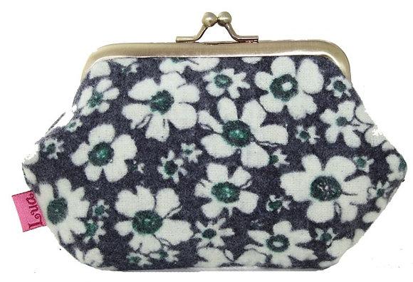 Clip frame coin purse navy