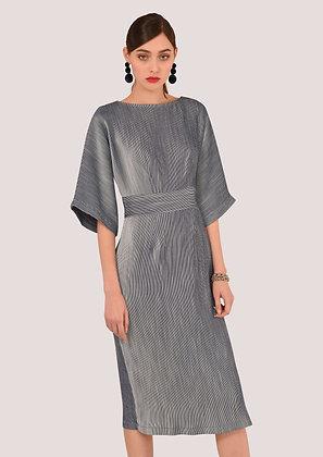 Pinstripe kimono dress