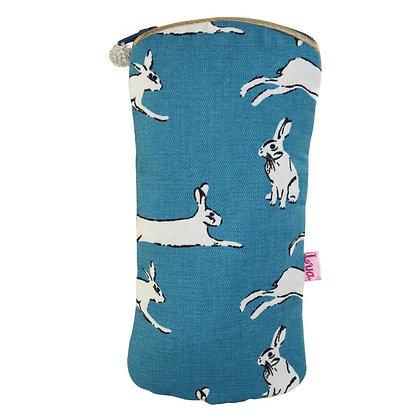 Hare glasses purse in blue