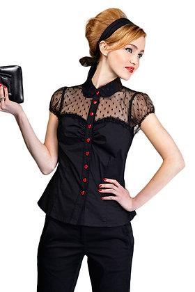 My Valentine blouse in black