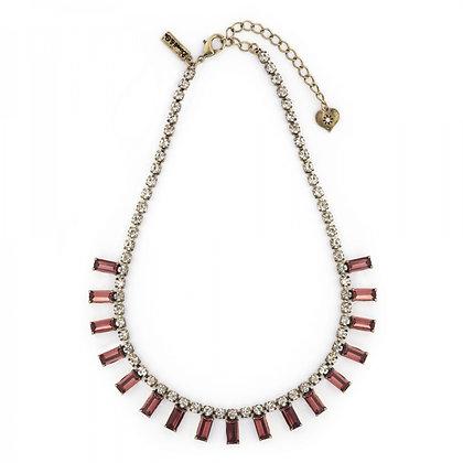 Burgundy 1950's bar style necklace
